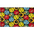 Angry Birds Fleece Circles Black