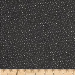 Essentials Flannel Petite Dots Black Fabric