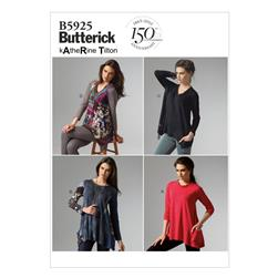 Butterick Misses' Top Pattern B5925 Size 0Y0