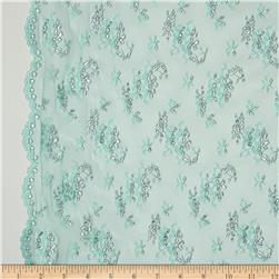 Fine Lace Double Scallop Mint/Silver