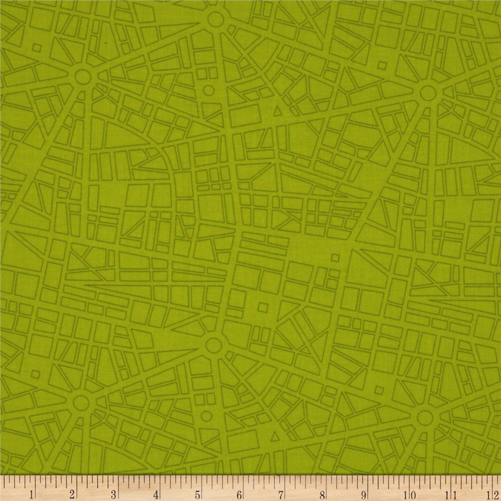 Moda Barcelona City Map Lime