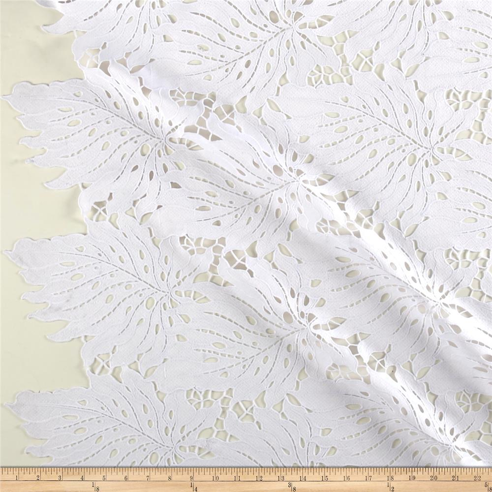 Palms Guipure Lace White