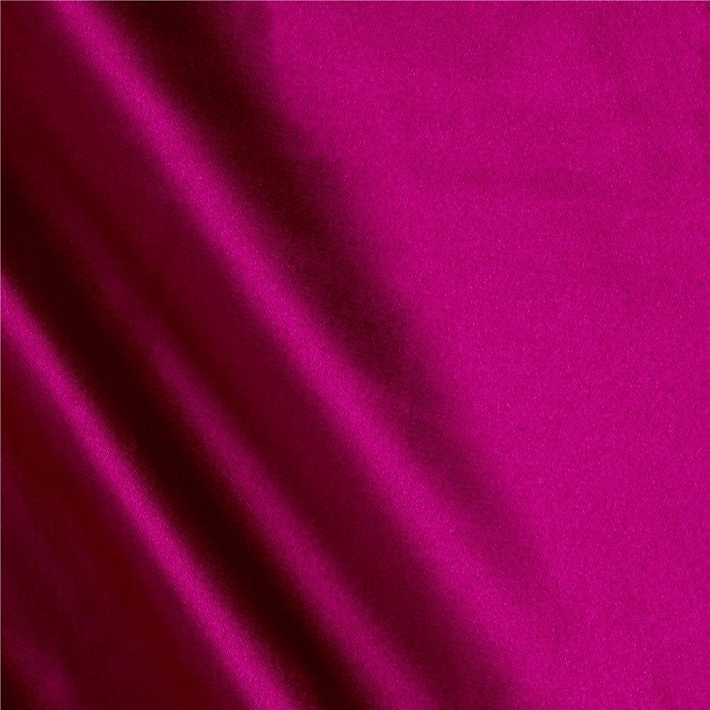 Charmeuse Satin Solid Magenta Fabric By The Yard