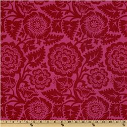 Heirloom Laminated Cotton Blockprint Blossom Crimson