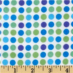 Flannelland Dots Green