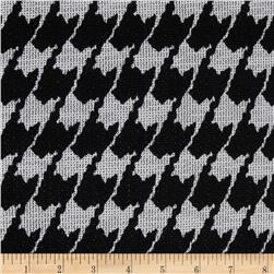 Sydney Stretch Crepe Knit Houndstooth Grey/Black