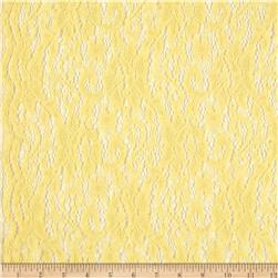Stretch Floral Lace Butter Yellow