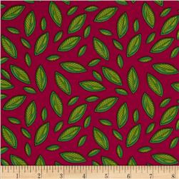 Meadow Melody Leaves Pink/Green
