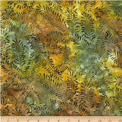 Artisan Batiks Northwoods Bare Leaves Nature Green Fabric