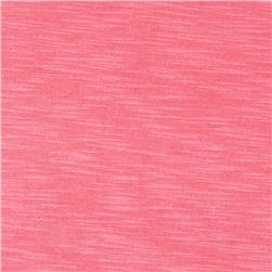 Ultra Stretch Rayon Slub Jersey Knit Pink