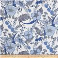 Kaufman Lennox Gardens Cotton Lawn Floral Spray Delft