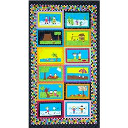 "Riverwoods Play Date Scenes 24"" Panel Multi"