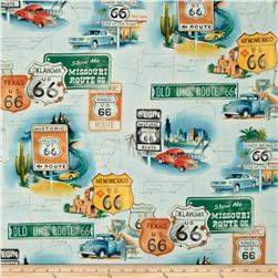 Alexander Henry Nicole's Prints Route 66 Sage Tint