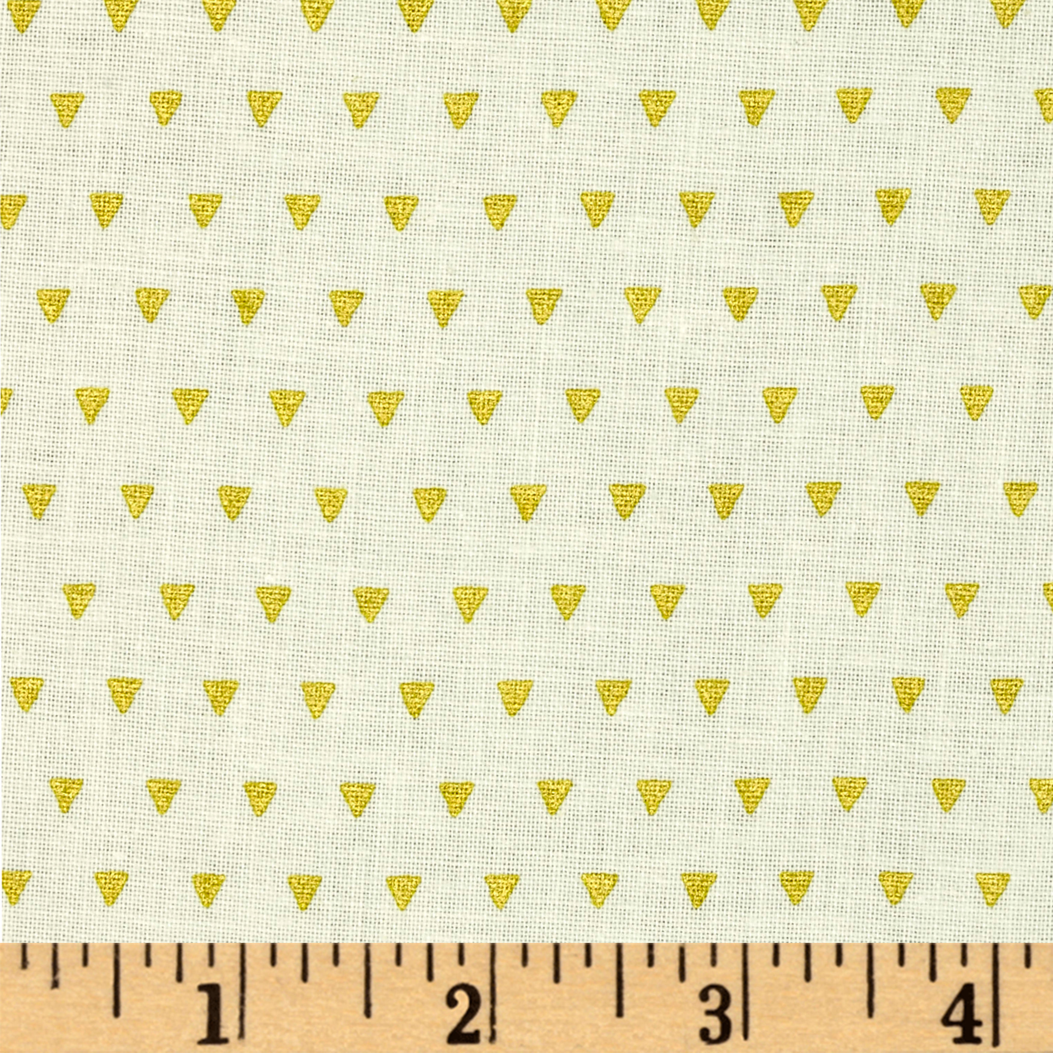 Image of ADORNit Girls Gold Triangles Fabric
