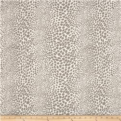 Stretch Cotton Poly Denim Cheetah Stone/Ivory