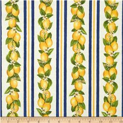 Fresh Lemons Stripe Navy