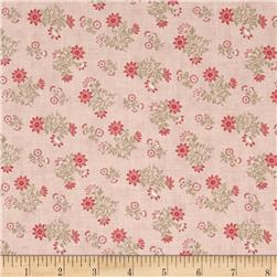 Moda Whitewashed Cottage Daisy Sprays Rose
