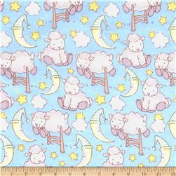 Lullaby Sheep Bedtime Sheep Flannel Sky/Grey