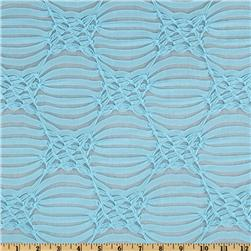 Stretch Novelty Jacquard Knit Light Blue
