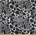 Fleece Animal Print Black/White