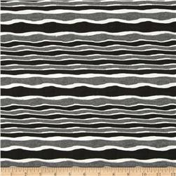 River Knit Stripes Black/Charcoal/White