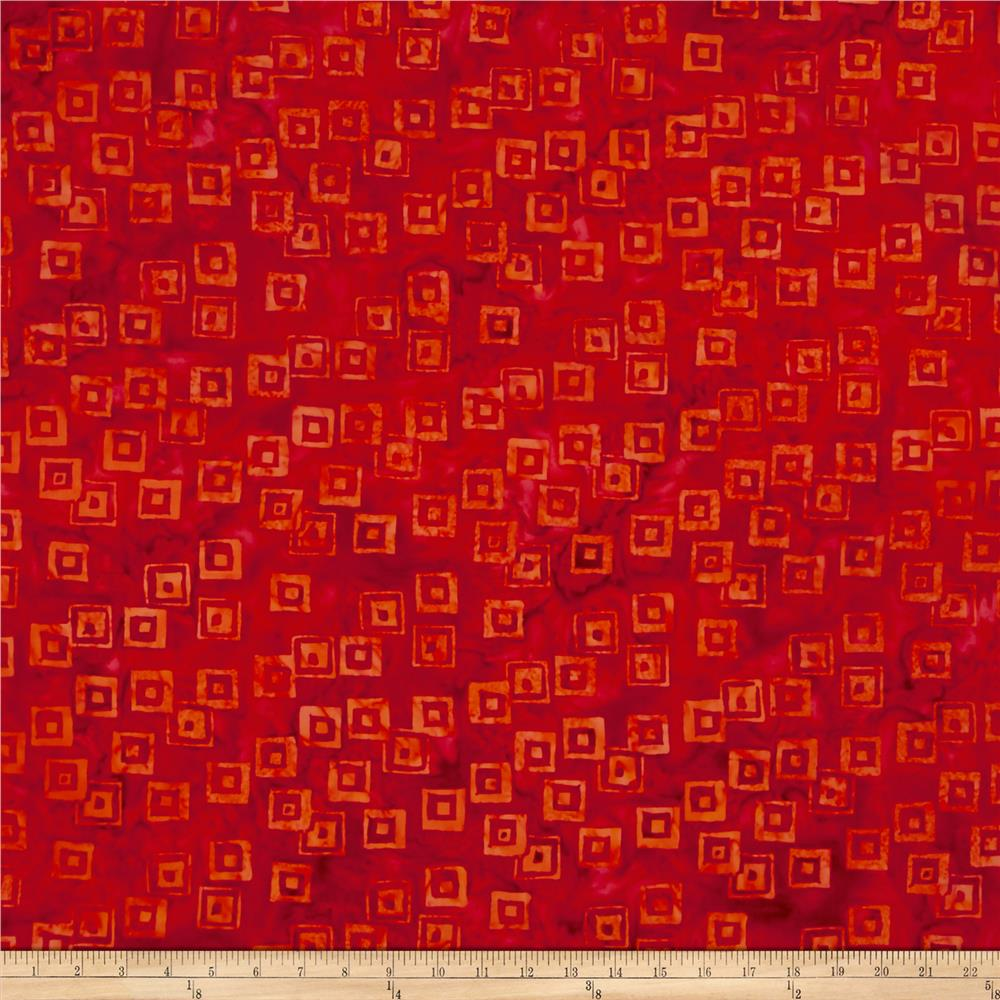 Island Batik Lavish Habitat Orange