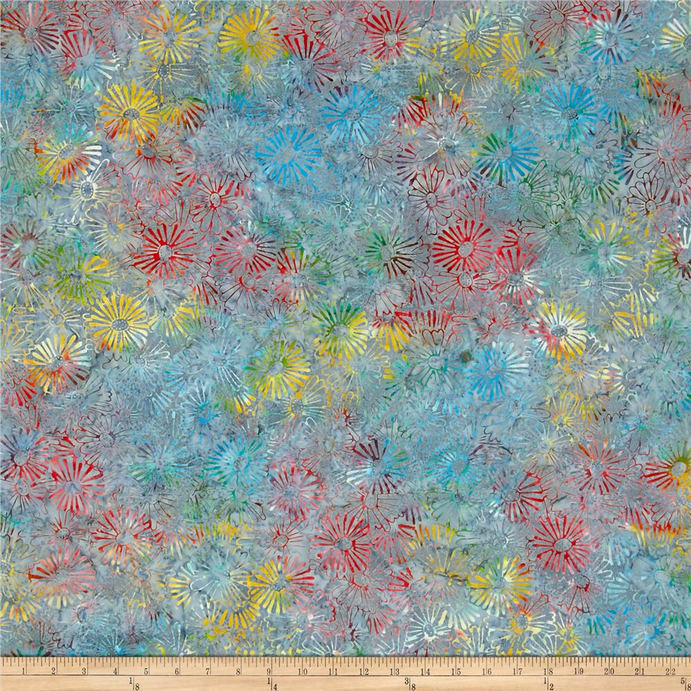 Primo Batiks Must Haves Flower Burst Teal