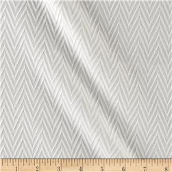 Quilted Liverpool Double Knit Chevron White