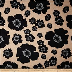 Bartow Indoor/Outdoor Floating Poppies Black/Natural