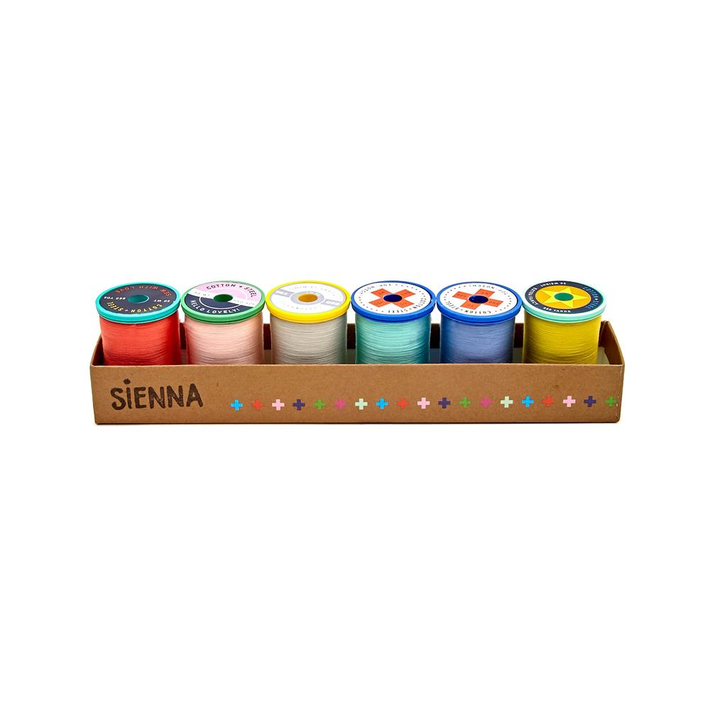 Cotton + Steel 50wt. Cotton Thread Set by Sulky Sienna Collection