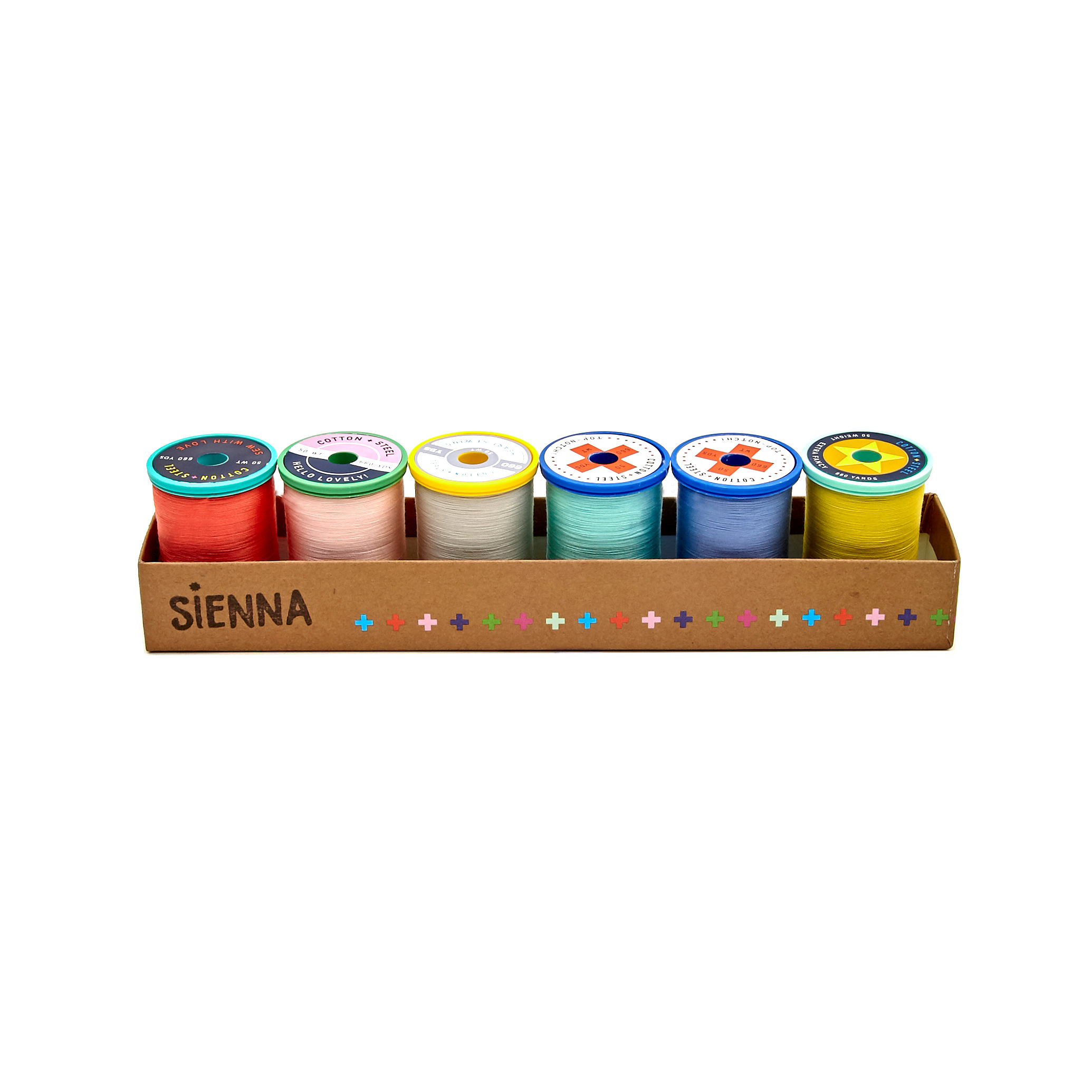 Image of Cotton + Steel 50wt. Cotton Thread Set by Sulky Sienna Collection
