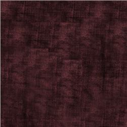 Jaclyn Smith Upholstery Velvet Plum Fabric
