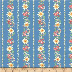 Pinafores & Petticoats Daisies & Roses Stripe Blue