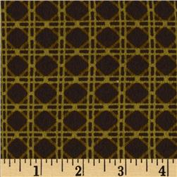 Northern Exposure Flannel Cane Brown/Olive Fabric