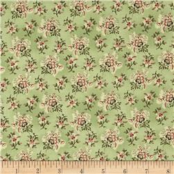 Ophelia Small Floral Cluster Green