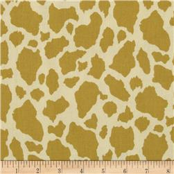 Canyon Trails Cowhide Khaki Fabric