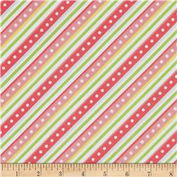 Kimberbell Little One Flannel Too! Flannel Diagonal Stripe Pink