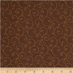 Maywood Studio Kimberbell Basics Scroll Brown Tonal