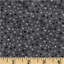Essentials Petit Dot Dark Gray Fabric