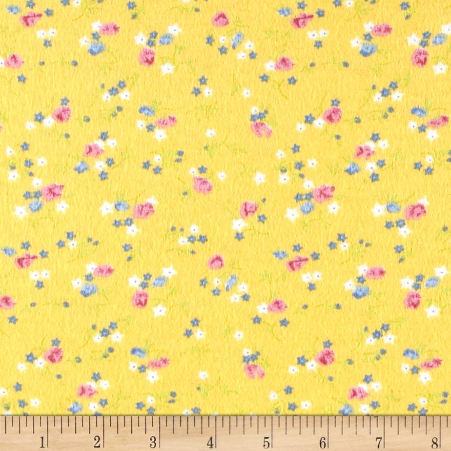 Posies Flannel Yellow