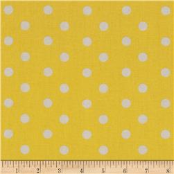 Baby Talk Aspirin Dot Yellow/White Fabric