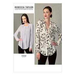 Vogue Misses' Top Pattern V1412 Size B50