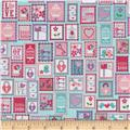 Riley Blake Lovey Dovey Stamps Purple