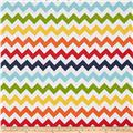"Riley Blake 108"" Wide Medium Chevron Rainbow"