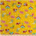 Newcastle Flannel Old MacDonald Yellow