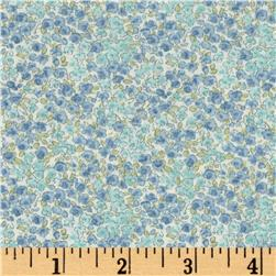Kaufman Sevenberry Petite Garden Tight Buds Blue
