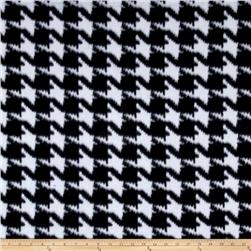 Novelty Fleece Print Houndstooth Black/White
