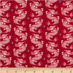 Riley Blake Year of the Ninja Royalty Red
