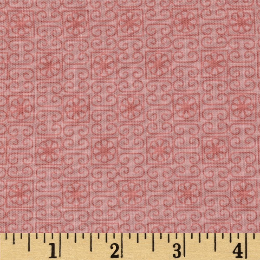 Stonewall Bloom Tonal Geometric Coral