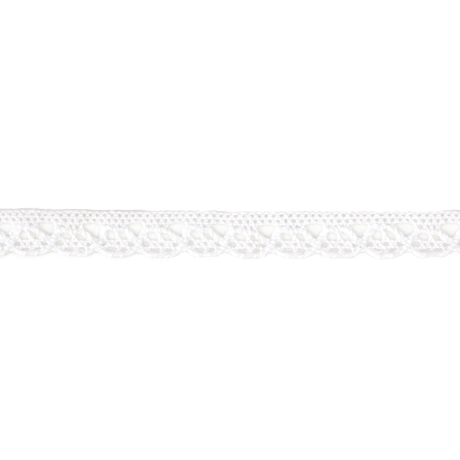 3/8'' Crochet Trim White